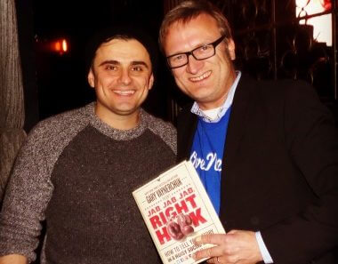 "Gary Vaynerchuk in LA with ""Jab, Jab, Jab, Right Hook"" book"