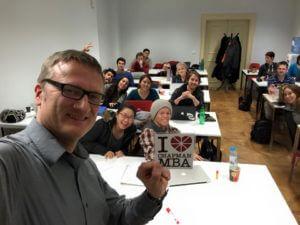 Prague MBA Class 2015 in class