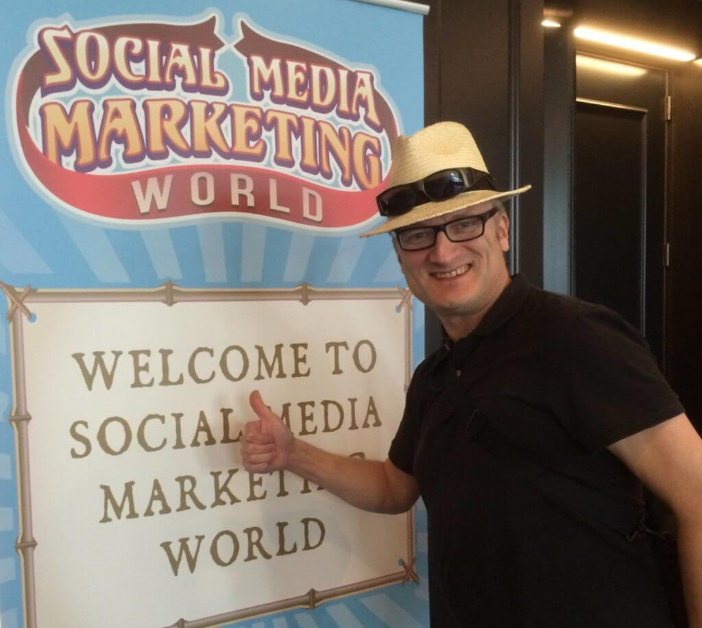 The Social Media Professor Niklas Myhr at Social Media Marketing World #SMMW15