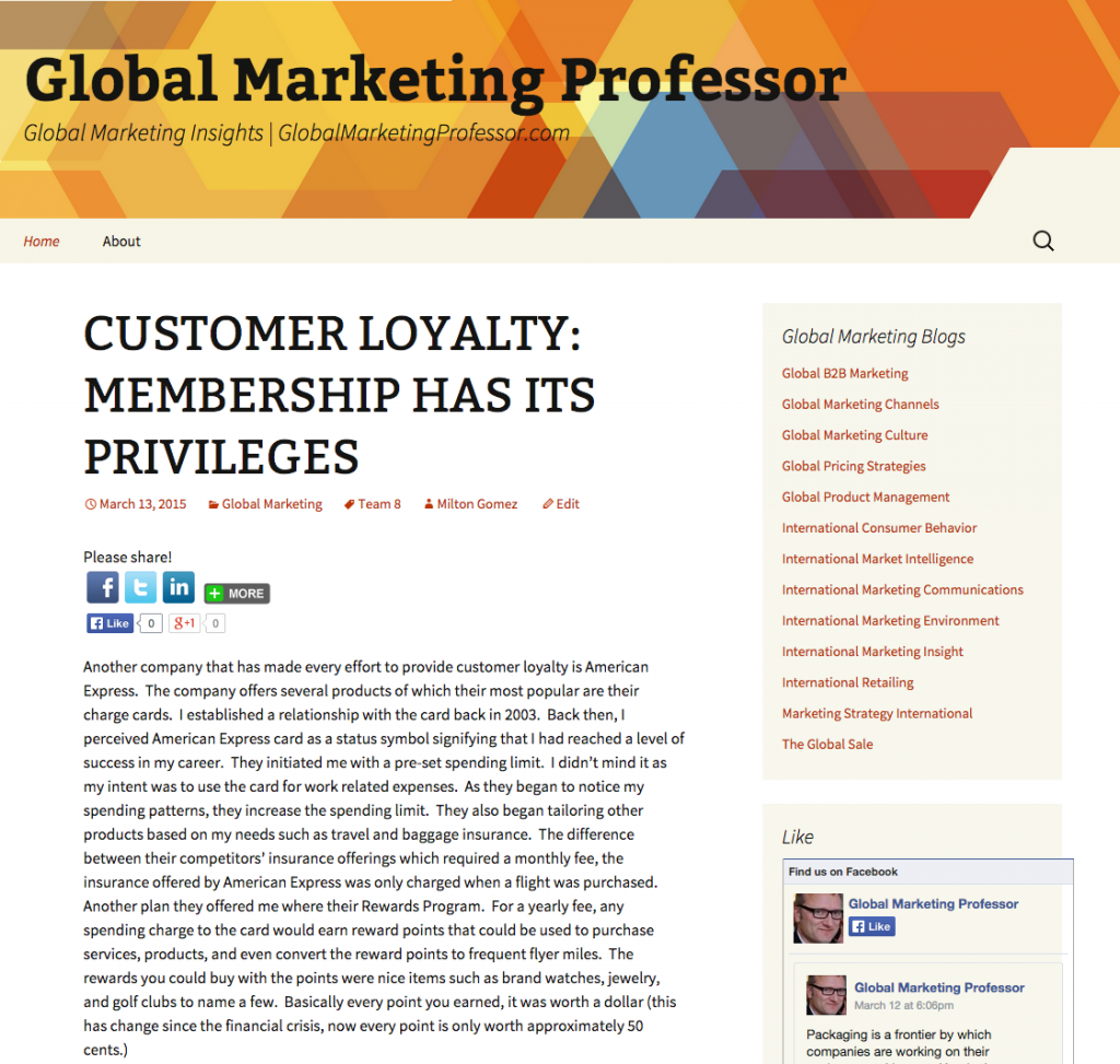 International Global Marketing Professor GlobalMarketingProfessor.com