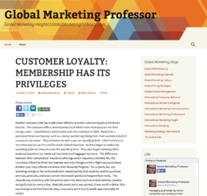 Check out Global Marketing Professor