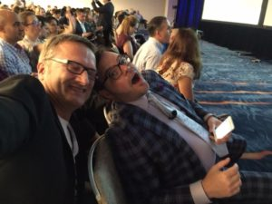 Niklas Myhr and Jay Baer at Social Media Marketing World 2015