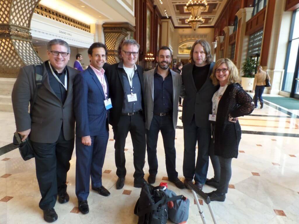 Steve Farber, Martin Shervington, Niklas Myhr, Derek Coburn, Chris Brogan, and Marla Schulman at Social Media Marketing World 2014