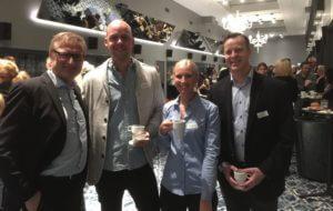 Chapman University gradutate Filip Westlander, Josefine Berglund, Per Ericson