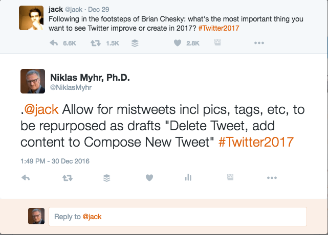Jack Dorsey Niklas Myhr Twitter