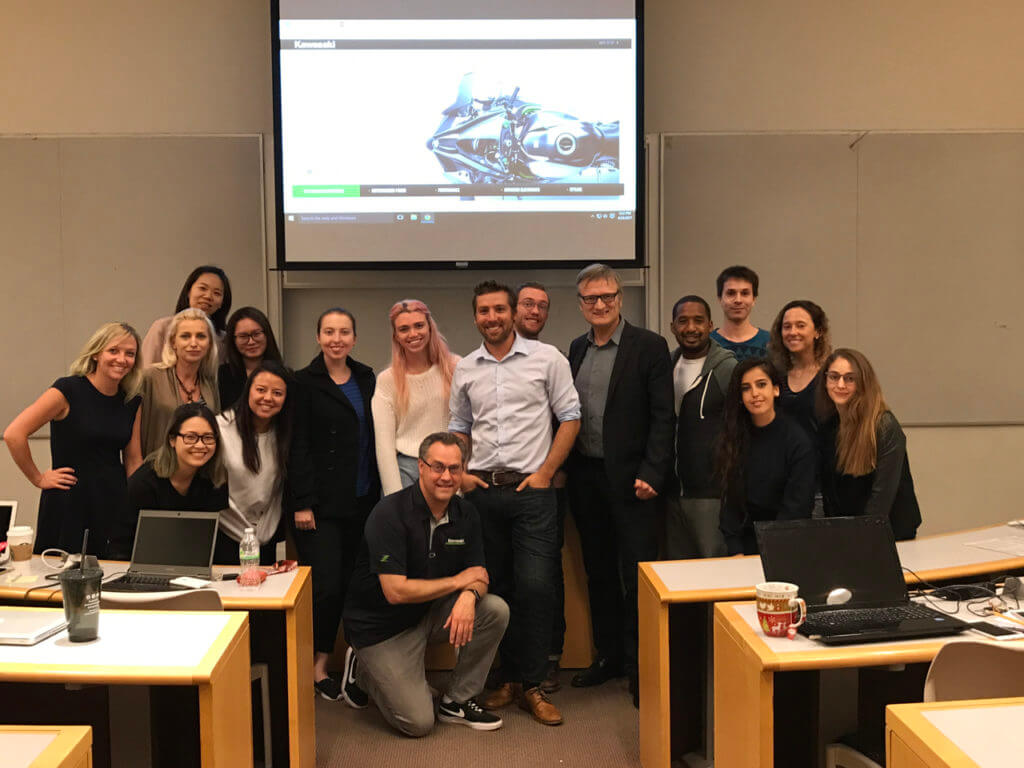 Chris Brull Kawasaki Motors Scott Shaffstall International Marketing MBA Chapman University