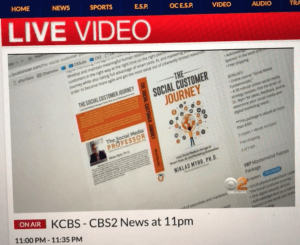 The Social Customer Journey book by Niklas Myhr on CBS LA TV