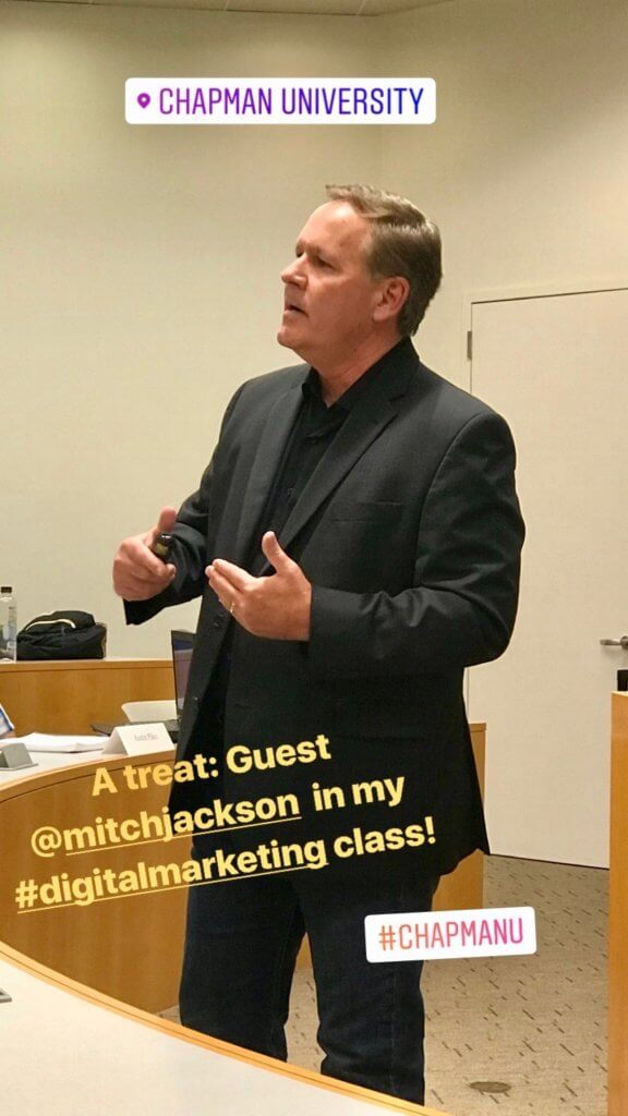 Mitch Jackson, guest speaker, Chapman University