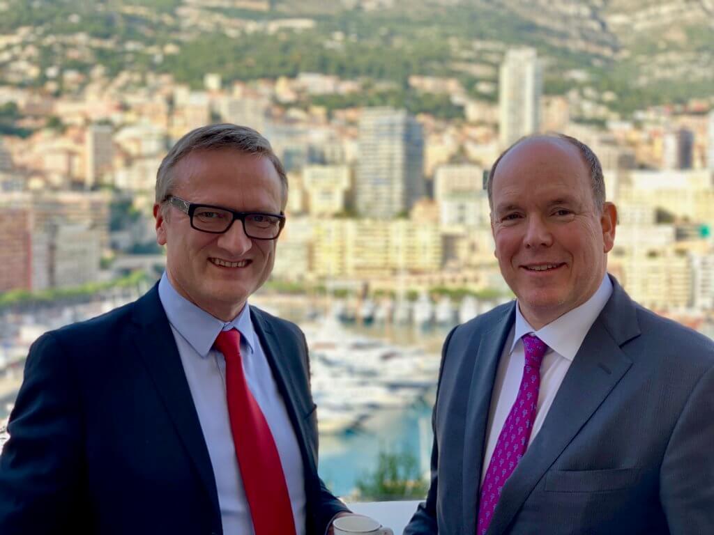 Niklas Myhr, HSH Prince Albert II, Monaco Digital Advisory Council