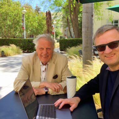 Professor Clas Wihlborg and Niklas Myhr, Chapman University